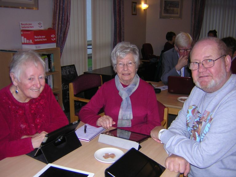 Group of users and volunteers at Gillespie Computer Club