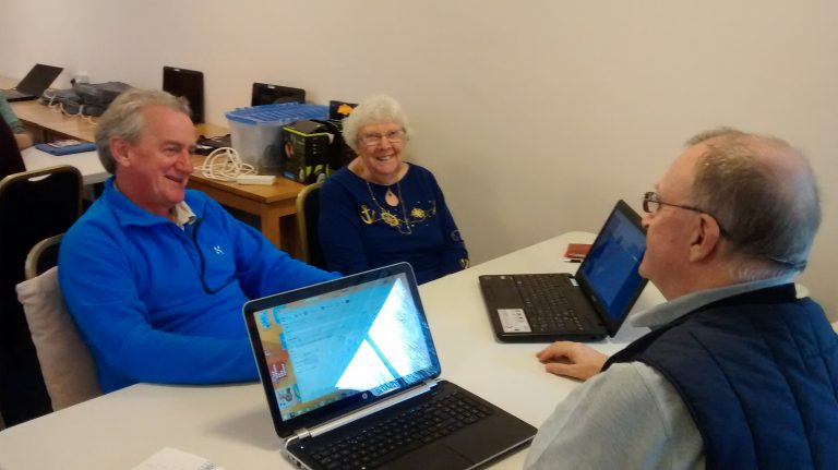 users and volunteer Colinton computer club