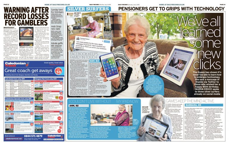 silver surfers social media article daily record paper