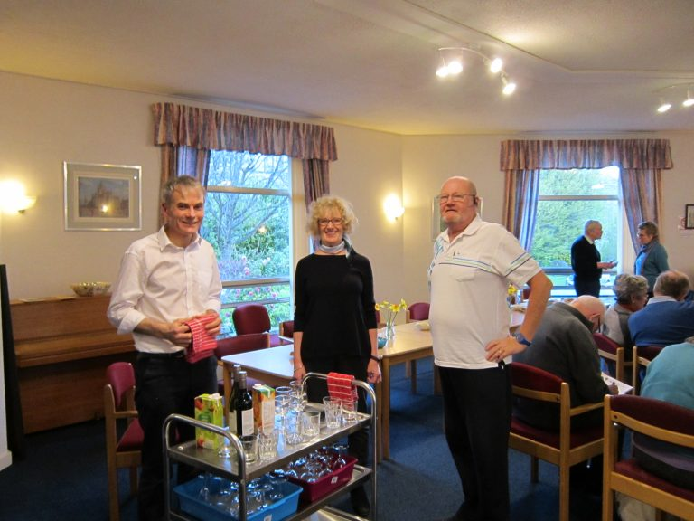Mike, Sheona & Bob 'at our service'!